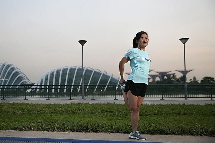 Ms Hermione Choong was put in the Trim And Fit club for overweight pupils in primary school, and struggled with her weight even in secondary school. But after completing a 6km race nearly 10 years ago when challenged by a friend, the tax manager beca