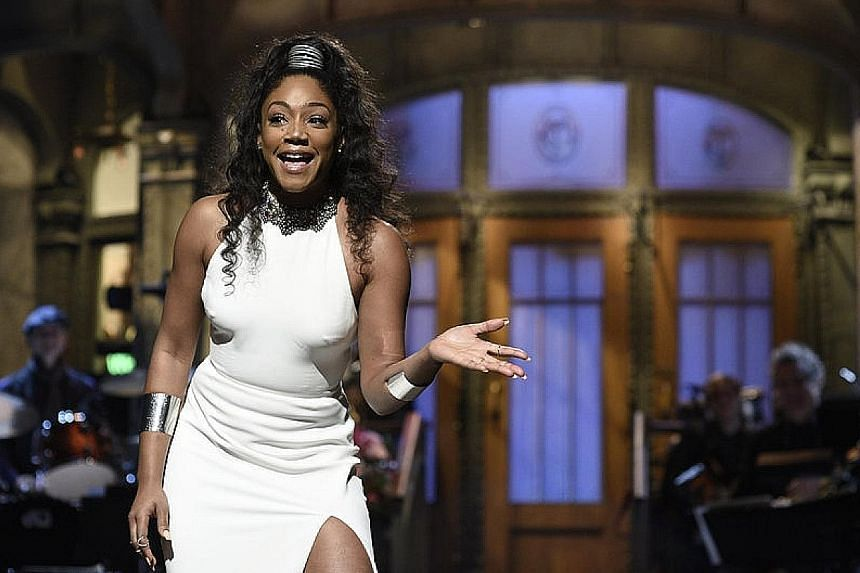 Tiffany Haddish hosted last weekend's Saturday Night Live and took on the topic of sexual harassment, offering advice to male viewers.