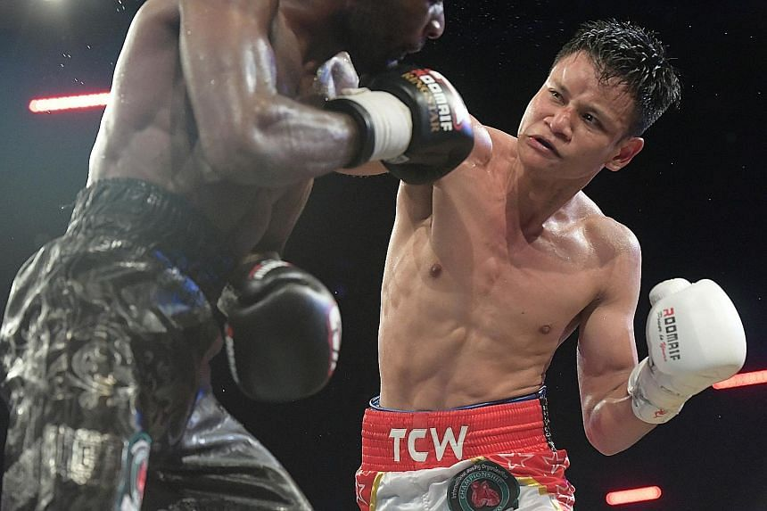 Muhamad Ridhwan landing a punch en route to winning his IBO International Super Featherweight title last month. When he eventually hangs up his gloves, the boxer may well be putting an end to a part of his self that will be difficult to replicate out