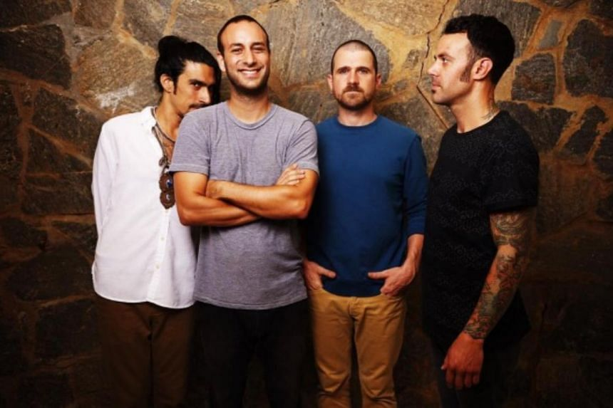 A woman said that lead singer Jesse Lacey (third from left) sought naked pictures of her when she was 15.