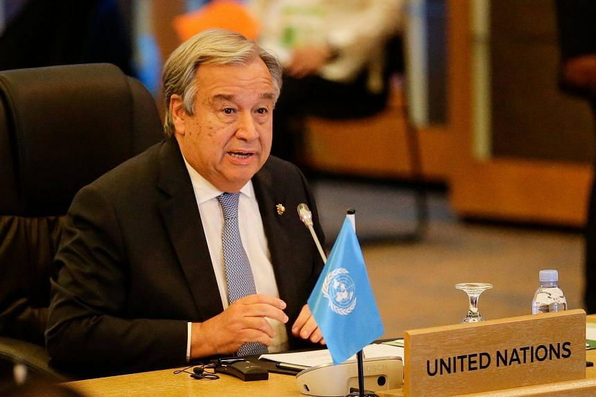 United Nations Secretary-General Antonio Guterres speaks during the 9th ASEAN UN Summit on the sideline of the 31st Association of Southeast Asian Nations (Asean) Summit in Manila.