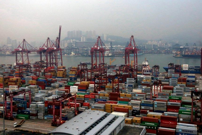 A general view of the container terminals at Kwai Chung district in Hong Kong.