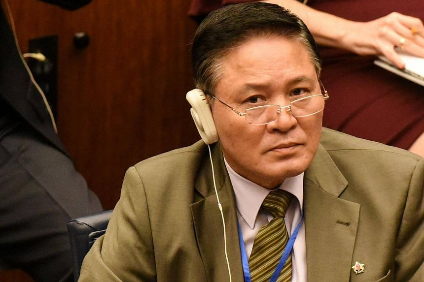 North Korea's Ambassador to the United Nations Ja Song Nam attends a ministerial meeting at the 72nd United Nations General Assembly at the UN headquarters in New York City.