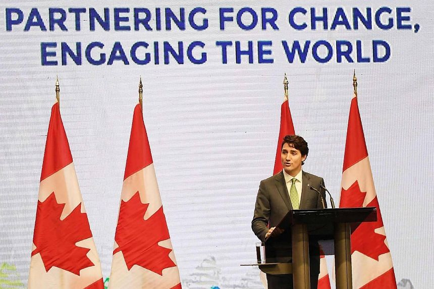 Canadian Prime Minister Justin Trudeau talked about extra-judicial killings in the Philippines and Rohingya refugees at a summit of Asian and Western leaders on Tuesday (Nov 14).