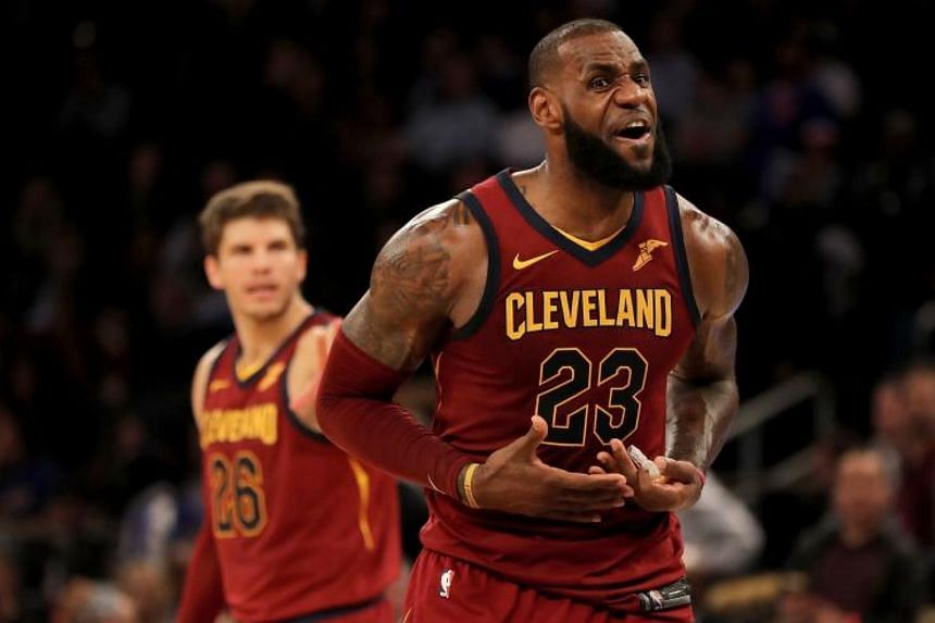 LeBron James finished the game with 12 assists and nine rebounds.