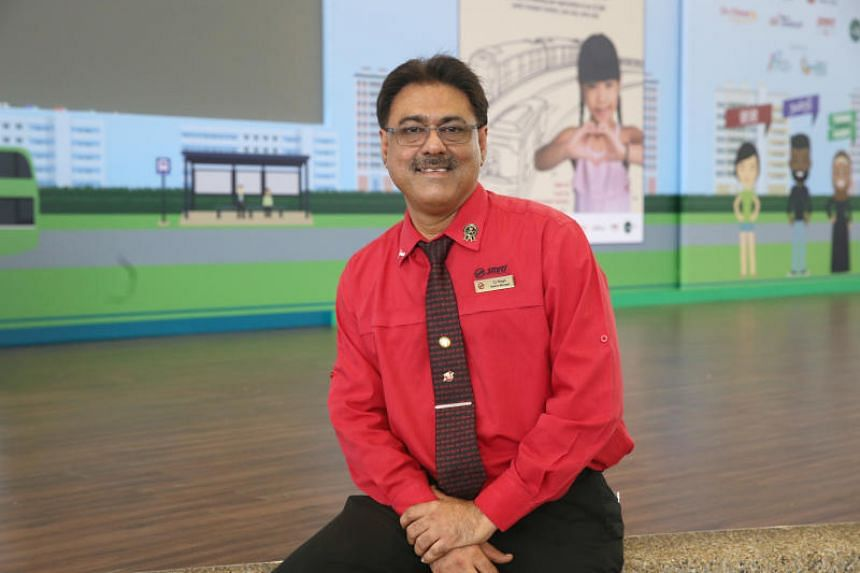 SMRT station manager Charnjit Singh (above) and another staff member were commended on Facebook for helping a woman who had fallen ill near the Lakeside MRT station in September this year.