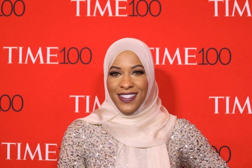Ibtihaj Muhammad arrives for the Time 100 Gala in the Manhattan borough of New York.