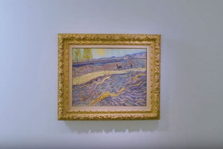 Vincent van Gogh's Laboureur Dans Un Champ was painted from the window of a French asylum.