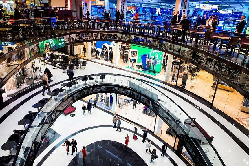 The Mall of Berlin shopping centre. Germany is enjoying a consumer-led upswing, helped by record-high employment, moderate inflation and ultra-low borrowing costs. The upturn is boosting tax revenues and the Budget surplus.