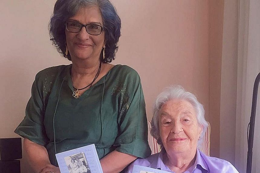 Dr Mandakini Arora (left) had been working with Mrs Jean Marshall on a project when she learnt about the letters. The widow of Singapore's first elected chief minister David Marshall had written them to her family in Kent, England, while she was work