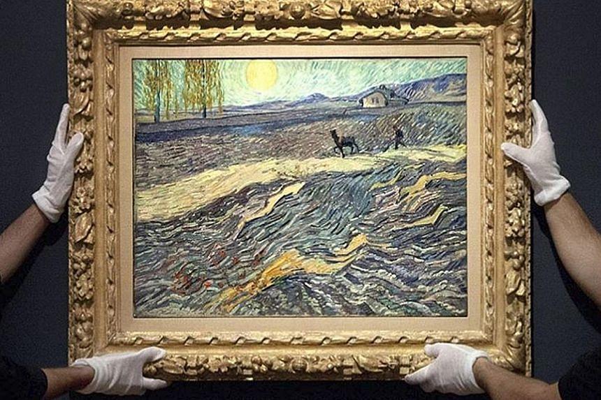 Laboureur Dans Un Champ (above) by Vincent van Gogh was valued at US$50 million, or about S$68.1 million.