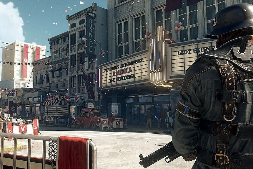 The latest entry in the Wolfenstein franchise, Wolfenstein II: The New Colossus, is set in an alternative 1960s timeline - the Nazis have won World War II and taken control of the United States.