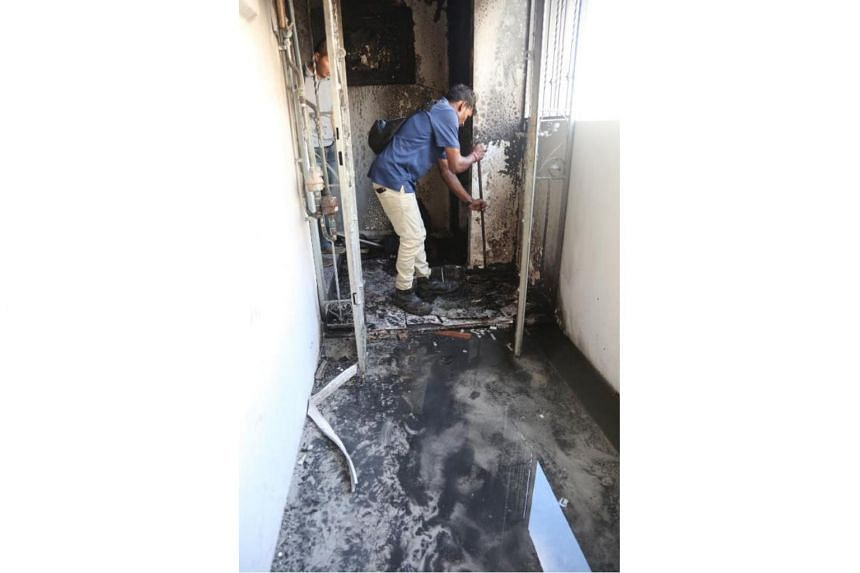 The fire at the flat in Tampines on Wednesday (Nov 15), saw three women taken conscious to Changi General Hospital for smoke inhalation.