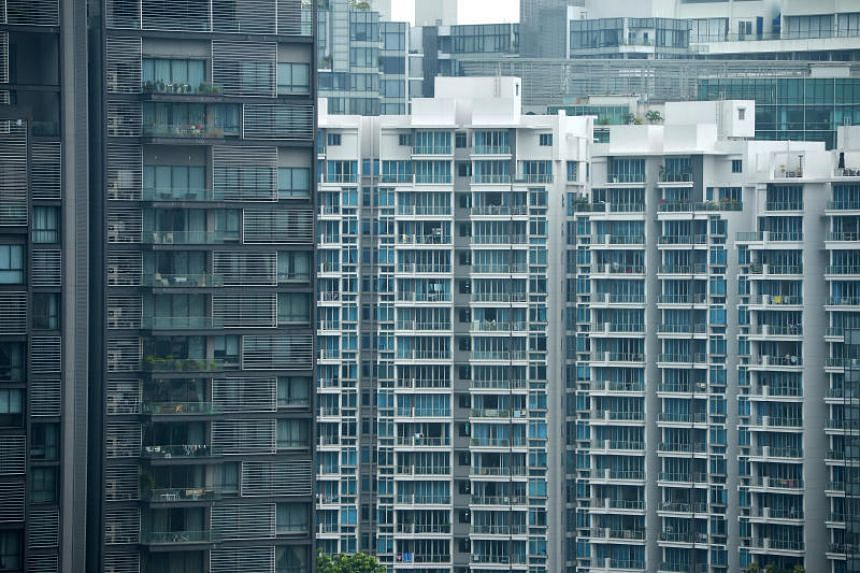 Blocks of high-rise condominiums in the Orchard Road estate.