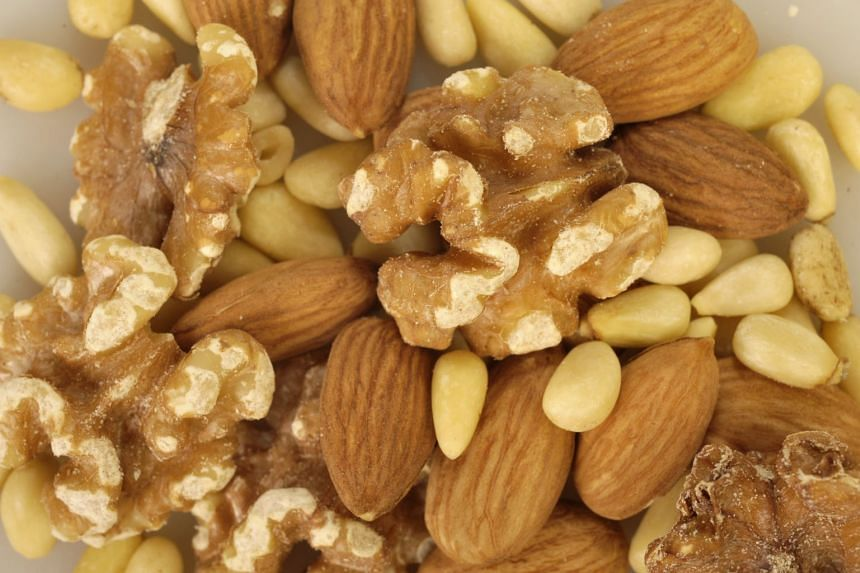 Eating five weekly servings of nuts was linked to a 14 per cent lower risk of cardiovascular disease.