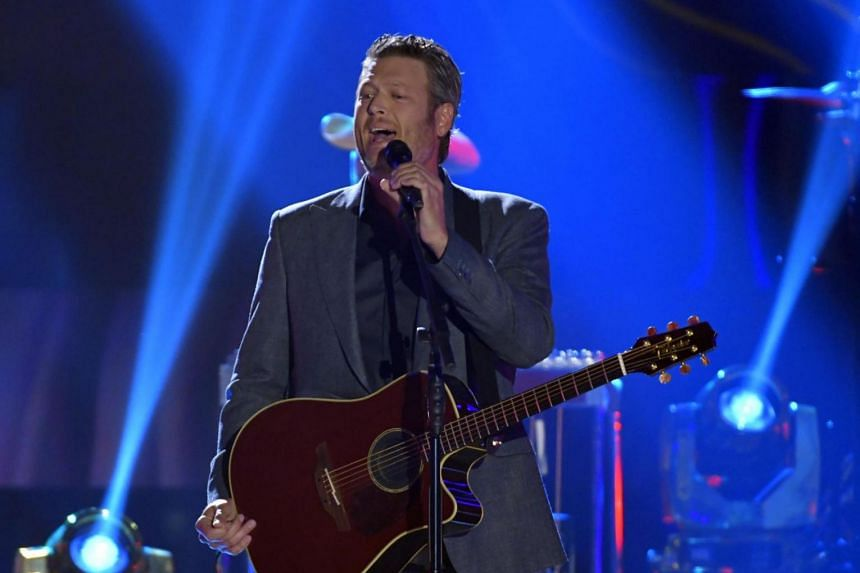 Blake Shelton performs at the 2017 CMT Music Awards show in Nashville, Tennessee, US.