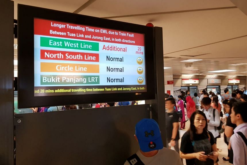Commuters were told to add 20 minutes to their travel time when travelling between Buona Vista and Harbourfront stations.