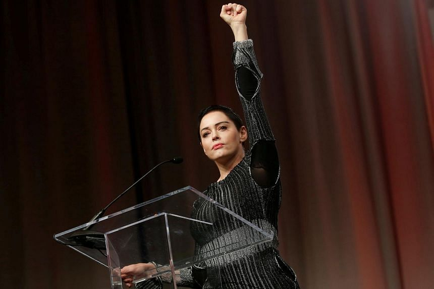 American actress Rose McGowan turned herself in near Washington before being released on bond after her personal belongings left on a flight tested positive for narcotics.