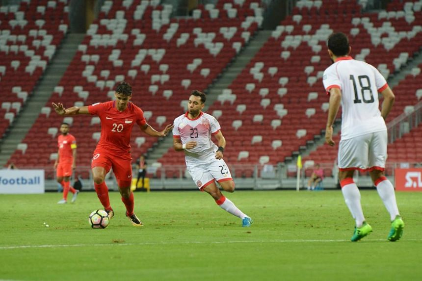 The Singapore national football team are winless for more than a year after a 0-3 defeat by Bahrain.
