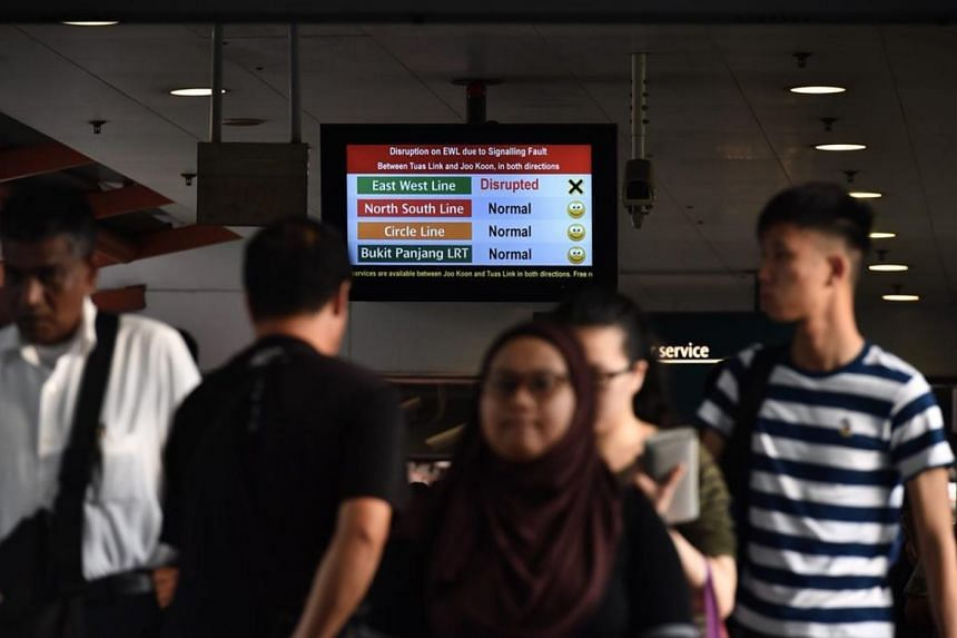 Train service between Joo Koon and Tuas Link stations was suspended on Thursday for the authorities to carry out investigations.