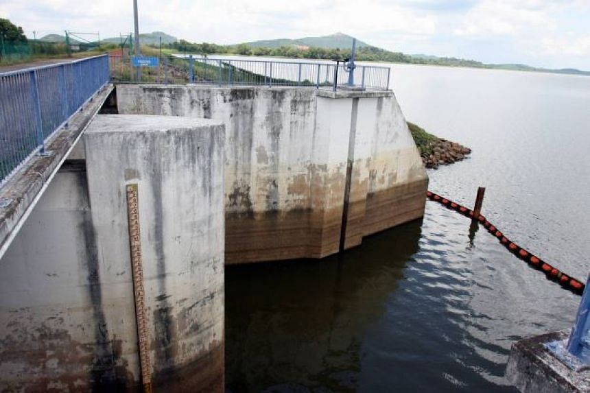 The Sembrong dam in Malaysia's Kluang district. PHOTO: THE STAR/ASIA NEWS NETWORK