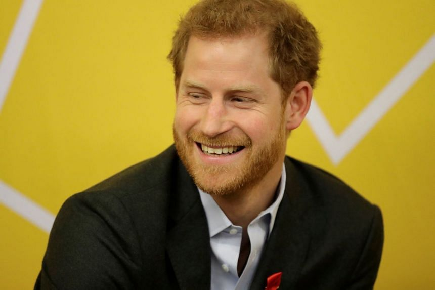 Britain's Prince Harry visiting the HIV self-test pop-up shop in Hackney, London.