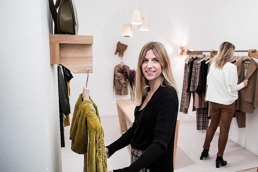 Eszter Aron at her Aeron showroom in Budapest, Hungary. She is one of many young designers in countries such as Poland, Hungary and Romania who are finding success at home.