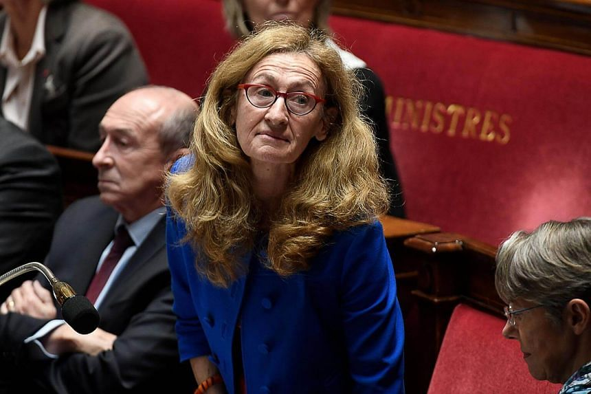 French Justice Minister Nicole Belloubet looks on during a session of questions to the government at the National Assembly in Paris.