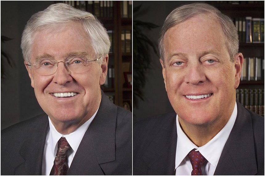 The surprise entry of Charles G. (left) and David H. Koch in negotiations, could lead to a quick deal between Time Inc and Meredith Corp.