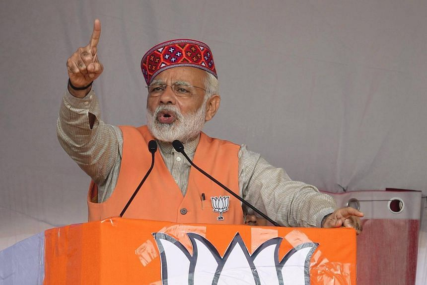 The ruling Bharatiya Janata Party, led by Prime Minister Narendra Modi (above), is trying to make its presence felt in the southern state amid troubles in its two regional parties.