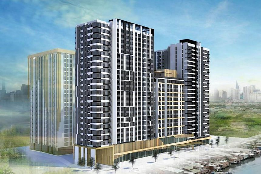 Artist's impression of the 870-unit residential development.