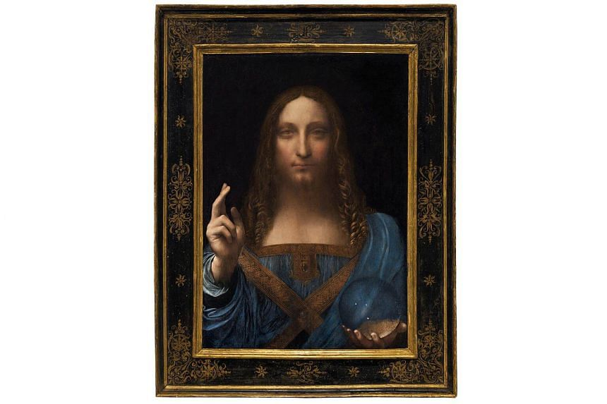 Salvator Mundi, an ethereal portrait of Jesus Christ which dates to about 1500, the last privately owned Leonardo da Vinci painting.