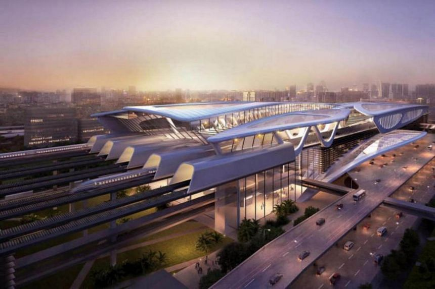 The first station for the Kuala Lumpur-Singapore High Speed Rail, Bandar Malaysia. Kuala Lumpur and Singapore signed an agreement last December to build and complete the HSR by 2026.