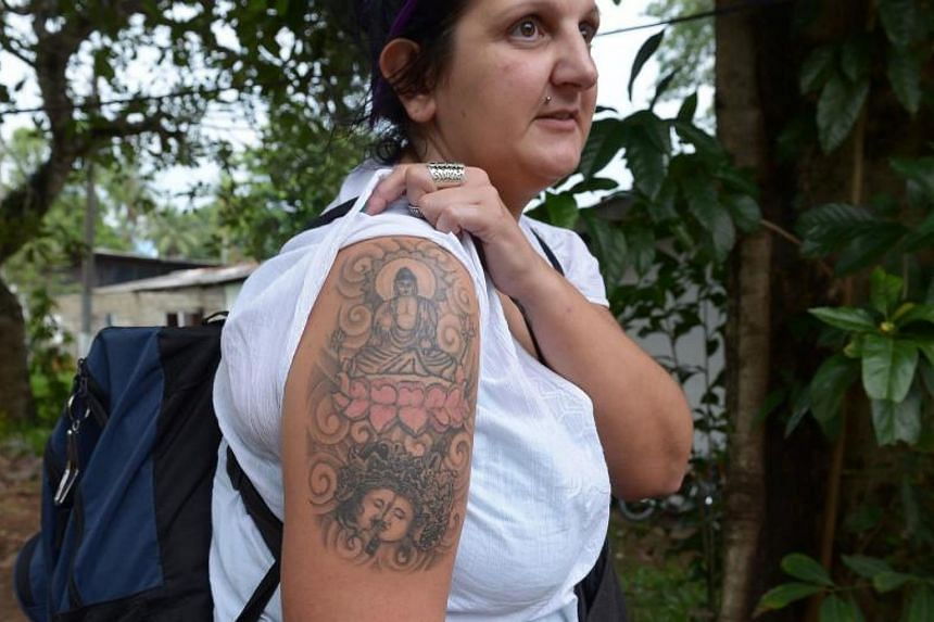Ms Naomi Michelle Coleman was detained in prison in 2014 after touching down in Colombo, where police in the Buddhist-majority country took offence to the tattoo on her arm.