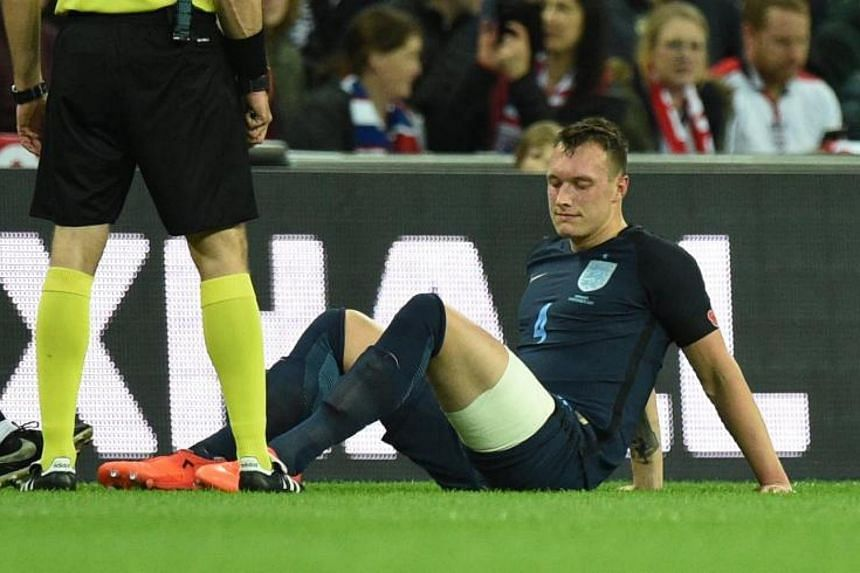 Phil Jones reported for England duty despite nursing a left thigh problem, only to be forced off in the first half of last Friday's (Nov 10) 0-0 draw against Germany at Wembley.