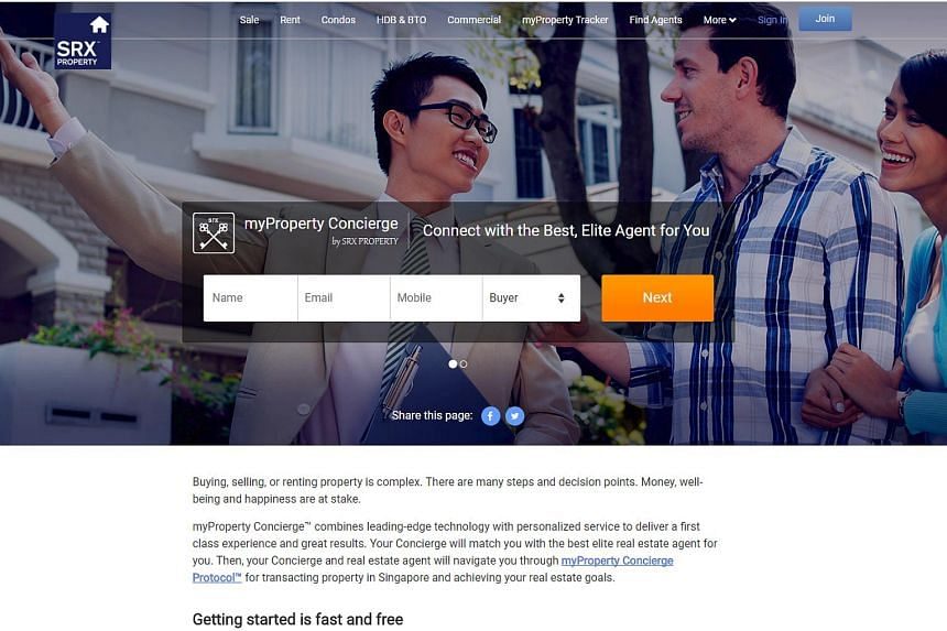 Called myProperty Concierge, the free service that started on Thursday (Nov16) entails a concierge from SRX Property connecting with clients to understand their goals.