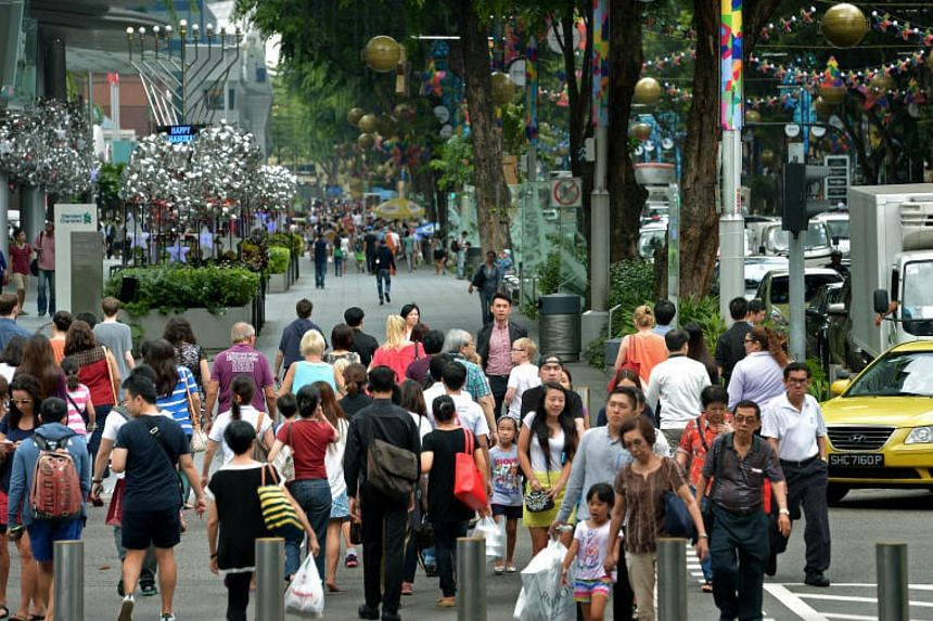 Generic photo of shoppers in Orchard Road. Mr Jay Mitchell Smith, then 25, was on holiday in Singapore on Aug 5, 2011, when he was hit by a car as he was crossing Orchard Road.
