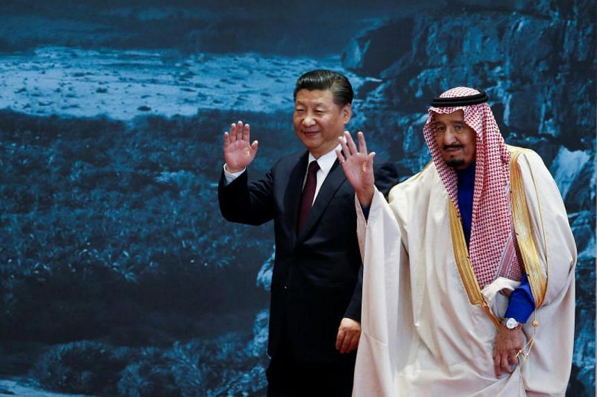 China's President Xi Jinping and Saudi Arabia's king Salman bin Abdulaziz Al-Saud attend the Road to the Arab Republic - the closing ceremony of the artifacts unearthed in Saudi Arabia - at China's National Museum in Beijing, China, on March 16, 2017