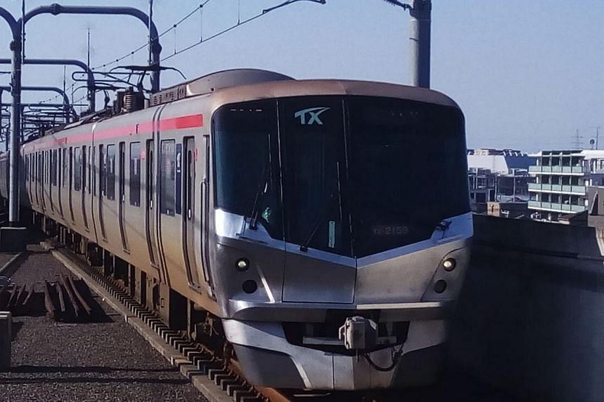 The company that manages the Tsukuba Express (train pictured) in Japan issued an apology after one of its trains left Minami Nagareyama station 20 seconds ahead of schedule, on Nov 14, 2017.