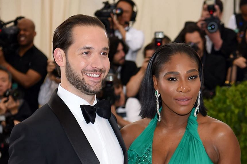 Serena Williams and fiance Alexis Ohanian at an event in New York City in May 2017.