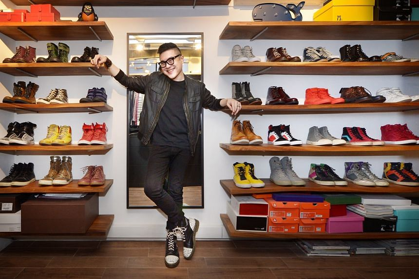 Mr Phin Wong grew up in his parents' Italian shoe store, Rodolfo Valentino, surrounded by beautiful shoes.