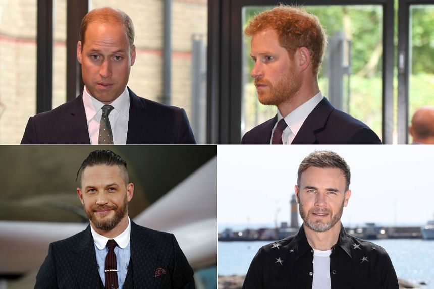 Princes Harry and William (top) are set to appear in a scene as Stromtroopers alongside two other famous cameos by actor Tom Hardy (bottom left) and Take That singer Gary Barlow (bottom right).