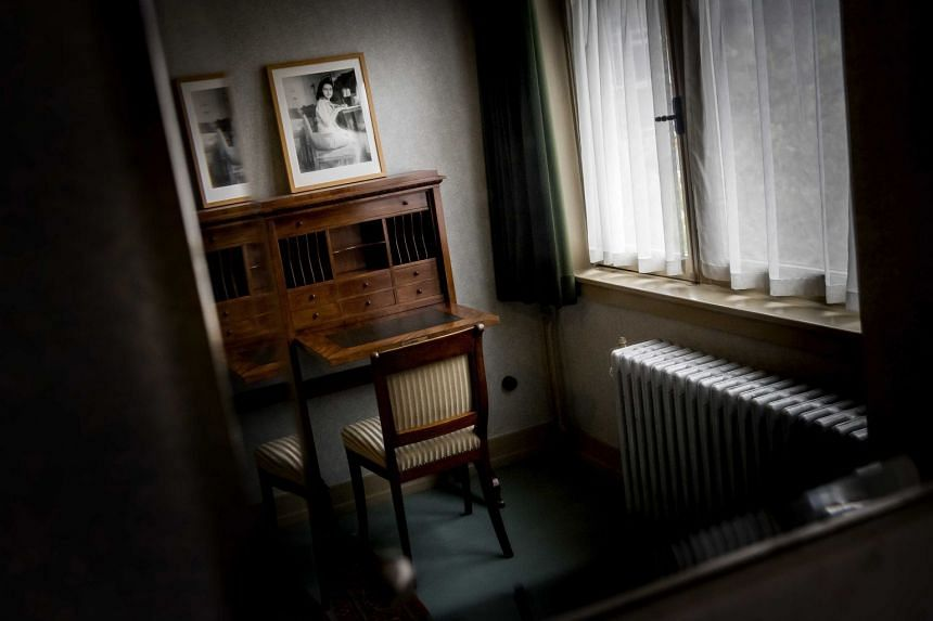 A view of a room of German diarist and Jewish Holocaust victim Anne Frank in her former house in the Rivierenbuurt in Amsterdam, The Netherlands.