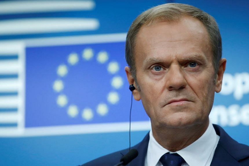 Progress is needed so leaders can approve the opening of trade talks at a summit on Dec 14, Tusk (above) said.