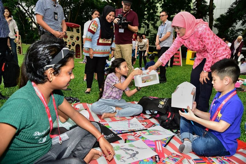 The Picnic@Istana series is an initiative by President Halimah Yacob (top right) to make the Istana grounds more accessible to Singaporeans.