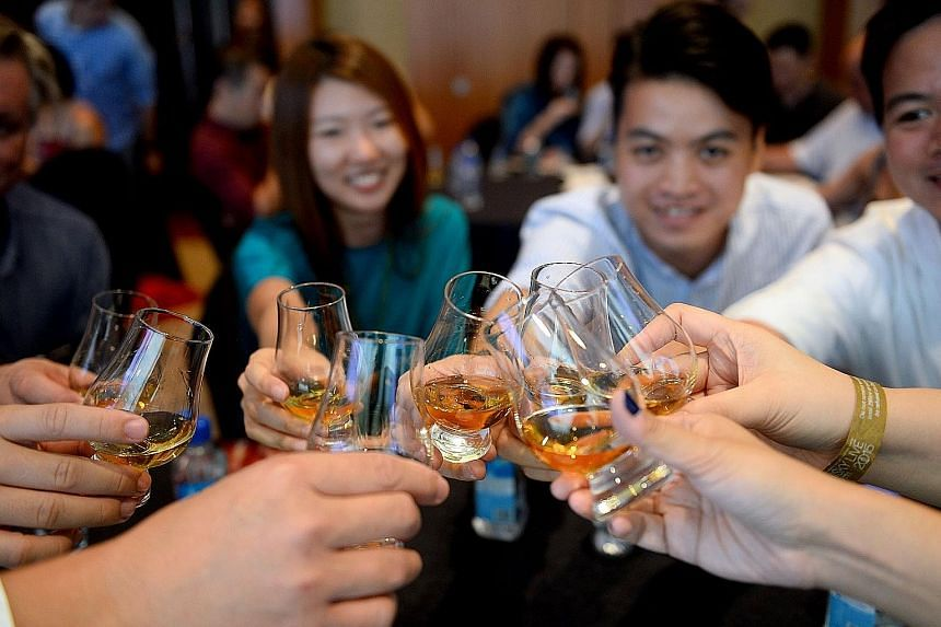 Revellers at a previous edition of Whisky Live.