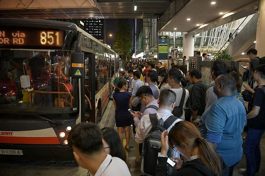 Service between Outram Park and Farrer Park stations was affected for about 11/2 hours last night after a train broke down at Clarke Quay station. Free bus services were provided, including at Clarke Quay station.