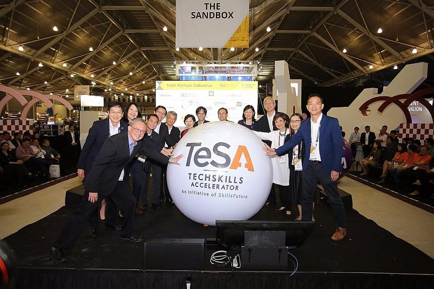 The TeSA Fintech Collective was announced at the Singapore FinTech Festival on Monday. The authorities estimate that more than 42,000 new information and communications technology professionals will be needed over the next three years, in industries