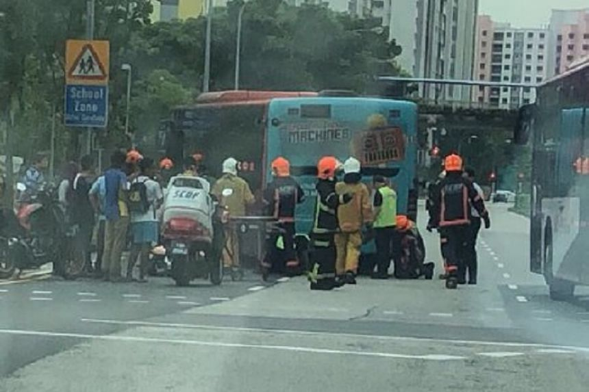 The accident occurred at the junction of Anchorvale Road and Sengkang East Way around 2.40pm on Friday (Nov 17).