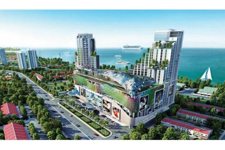 Artist's impression of the integrated project to be developed on the freehold land pursuant to the acquisition of Rico Development Sdn. Bhd. at Pekan Klebang Sek. IV, Melaka, along the Melaka Straits.